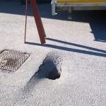 grop i asfalten